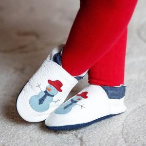 Pantofi cu talpă moale Liliputi® - Funky Snowman1