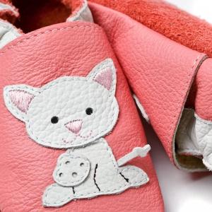 Pantofi cu talpă moale Liliputi® - Pink Pussycat