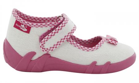 Pantofi fete cu aspect stralucitor, cu fundita (cu scai), din material textil2