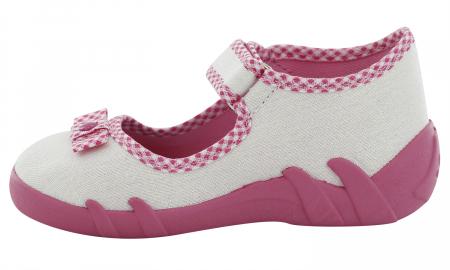 Pantofi fete cu aspect stralucitor, cu fundita (cu scai), din material textil3