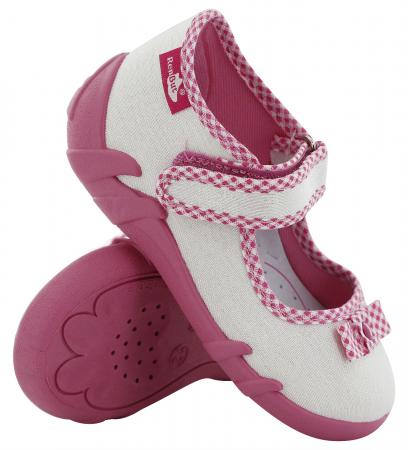 Pantofi fete cu aspect stralucitor, cu fundita (cu scai), din material textil0