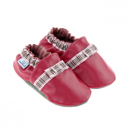 Papucei piele - Elegant Ribbon0