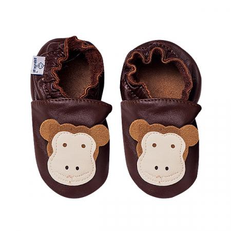 Papucei piele - Funny Monkeys2