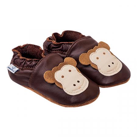 Papucei piele - Funny Monkeys0