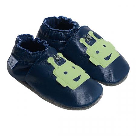 Papucei piele - Green Martians0