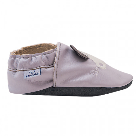Papucei piele - Grey Mouse1