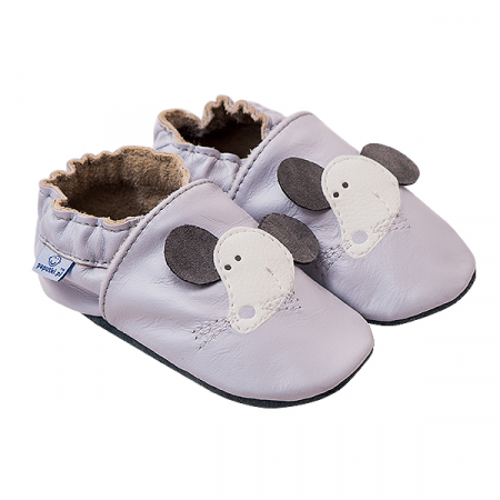 Papucei piele - Grey Mouse0