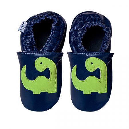 Papucei piele - Happy Dino2
