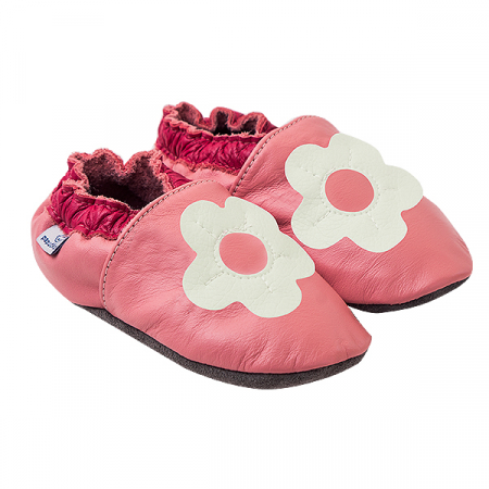 Papucei piele - White Margaret0