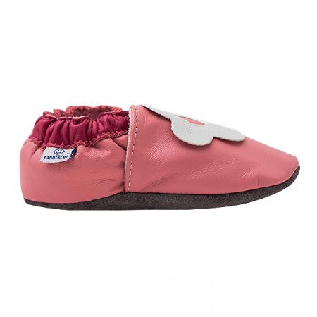 Papucei piele - White Margaret1