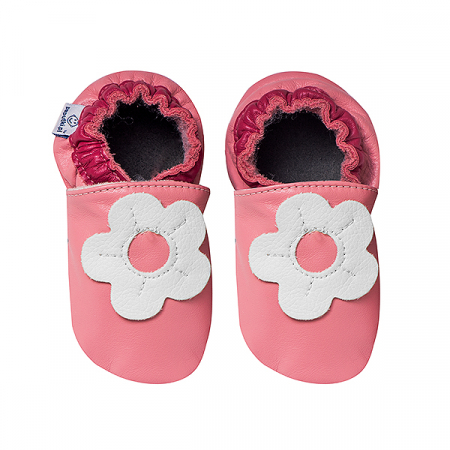 Papucei piele - White Margaret2
