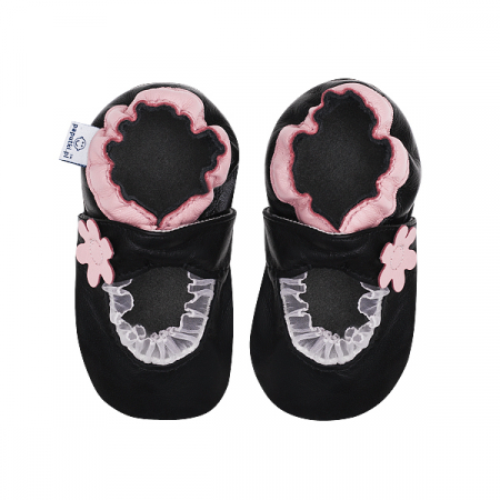 Papucei piele - Pink Balerini2
