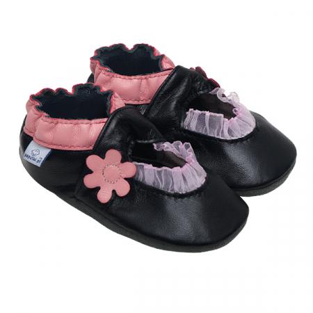 Papucei piele - Pink Balerini0