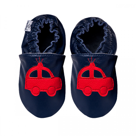 Papucei piele - Red Cars2
