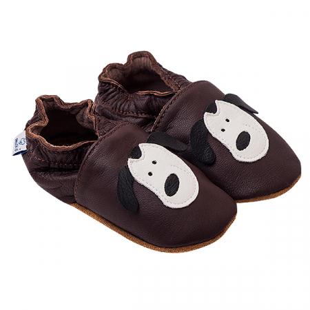 Papucei piele - Smiley Doggies0