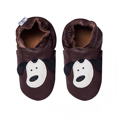 Papucei piele - Smiley Doggies2