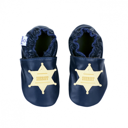 Papucei piele - Western Sheriff1