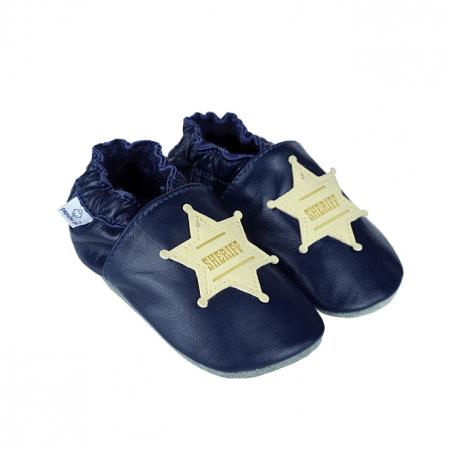 Papucei piele - Western Sheriff0
