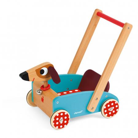 Premergator din lemn - Crazy Doggy - cu spațiu de depozitare, Janod J059950