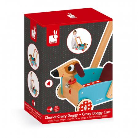Premergator din lemn - Crazy Doggy - cu spațiu de depozitare, Janod J059951