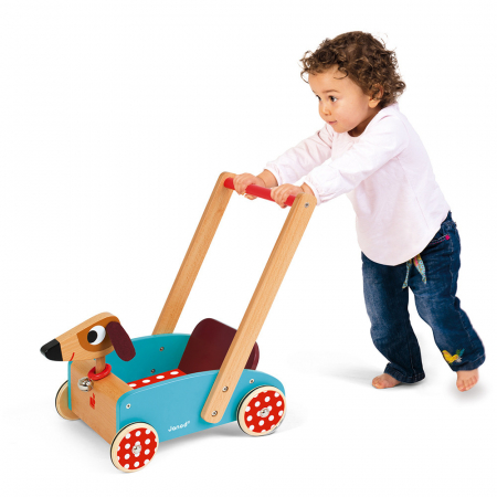 Premergator din lemn - Crazy Doggy - cu spațiu de depozitare, Janod J059952