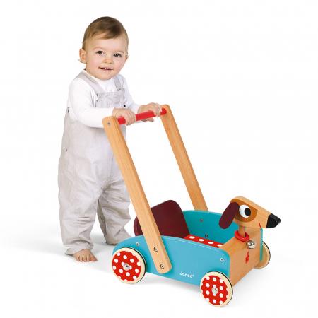 Premergator din lemn - Crazy Doggy - cu spațiu de depozitare, Janod J059953