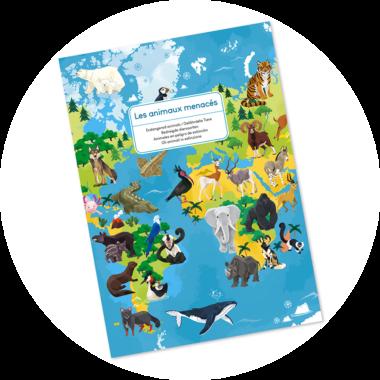 Puzzle educativ - Animale pe cale de la dispariție - 200 de piese, Janod J026764