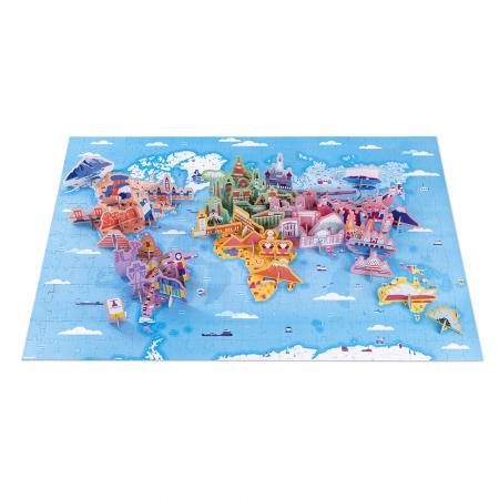 Puzzle educativ - Curiozități de pe mapamond - 350 de piese, Janod J02677 [1]