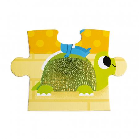 Puzzle tactil - Animale de companie - 20 de piese, Janod J026865