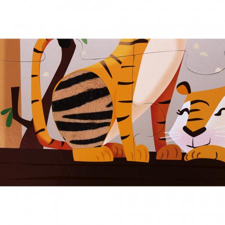 Puzzle tactil - La grădina zoologica - 20 de piese, Janod J027742
