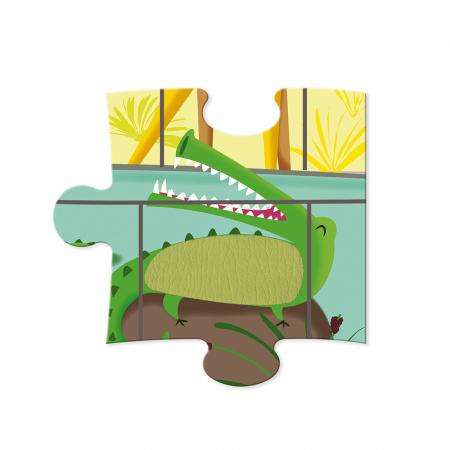 Puzzle tactil - La grădina zoologica - 20 de piese, Janod J027745