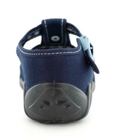 Sandale baieti cu motiv ancora (cu catarama), din material textil5