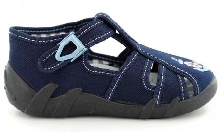 Sandale baieti cu motiv ancora (cu catarama), din material textil2