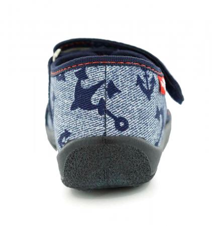 Sandale baieti cu motiv ancora (cu scai), din material textil5