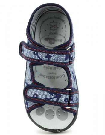 Sandale baieti cu motiv ancora (cu scai), din material textil4