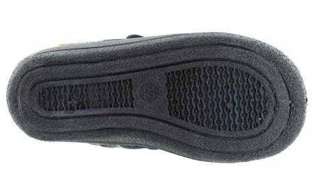 Sandale baieti gri-verde (cu scai), din material textil6
