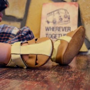 Sandale cu talpă moale Liliputi® - Peanut Butter1