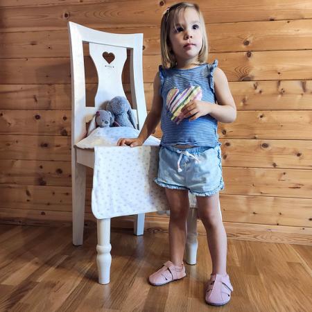 Sandale cu talpă moale Liliputi cu crampoane antialunecare - Cotton Candy4