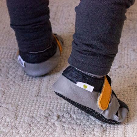 Sandale cu talpă moale Liliputi cu crampoane antialunecare - Yellowstone10