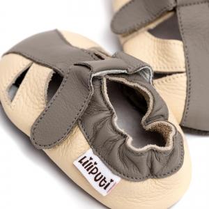Sandale cu talpă moale Liliputi® - Greyhound3