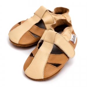 Sandale cu talpă moale Liliputi® - Peanut Butter0