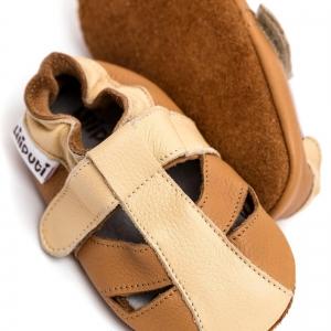 Sandale cu talpă moale Liliputi® - Peanut Butter4