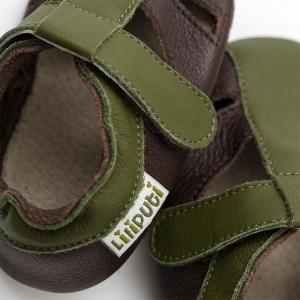 Sandale cu talpă moale Liliputi® - Atacama Brown1