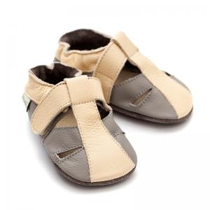 Sandale cu talpă moale Liliputi® - Atacama Grey2