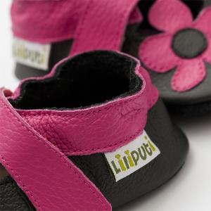 Sandale cu talpă moale Liliputi® - Kalahari Black1