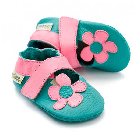 Sandale cu talpă moale Liliputi® - Kalahari Turquoise0
