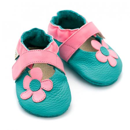 Sandale cu talpă moale Liliputi® - Kalahari Turquoise2
