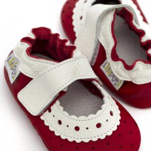 Sandale cu talpă moale Liliputi® - Red Rose1