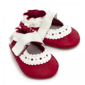 Sandale cu talpă moale Liliputi® - Red Rose2