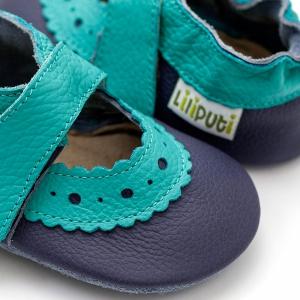 Sandale cu talpă moale Liliputi® - Sahara Blue1